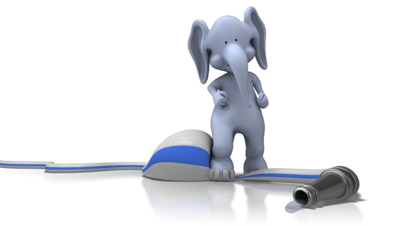 Clipart - Elephant On Hose