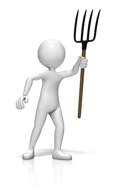 Clipart - Stick Figure Pitchfork