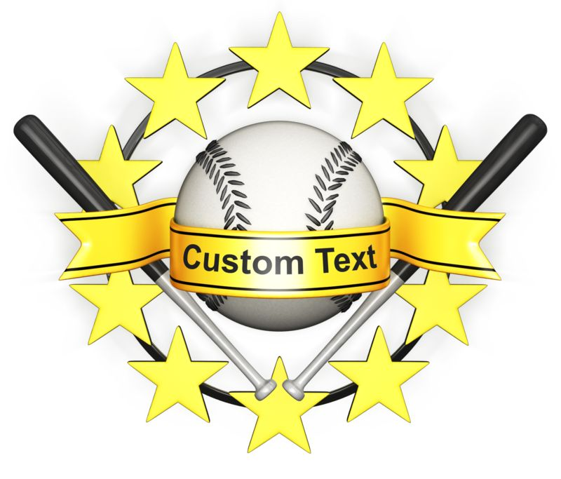 This Presentation Clipart shows a preview of Custom Baseball Banner