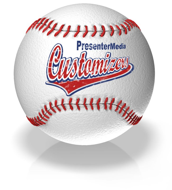 This Presentation Clipart shows a preview of Baseball Text