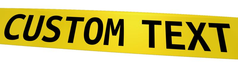 This Presentation Clipart shows a preview of Custom Caution Tape