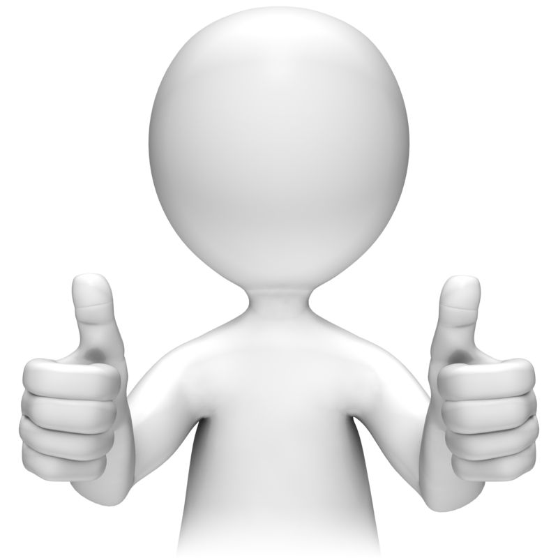 Clipart - Two Thumbs Up