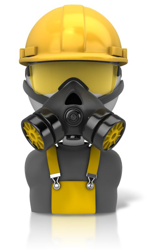 Clipart - Construction Safety Figure Icon