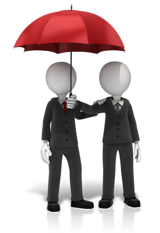 Clipart - Business Figures Umbrella