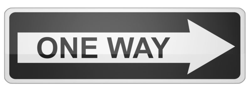 Clipart - Long One Way Sign Right