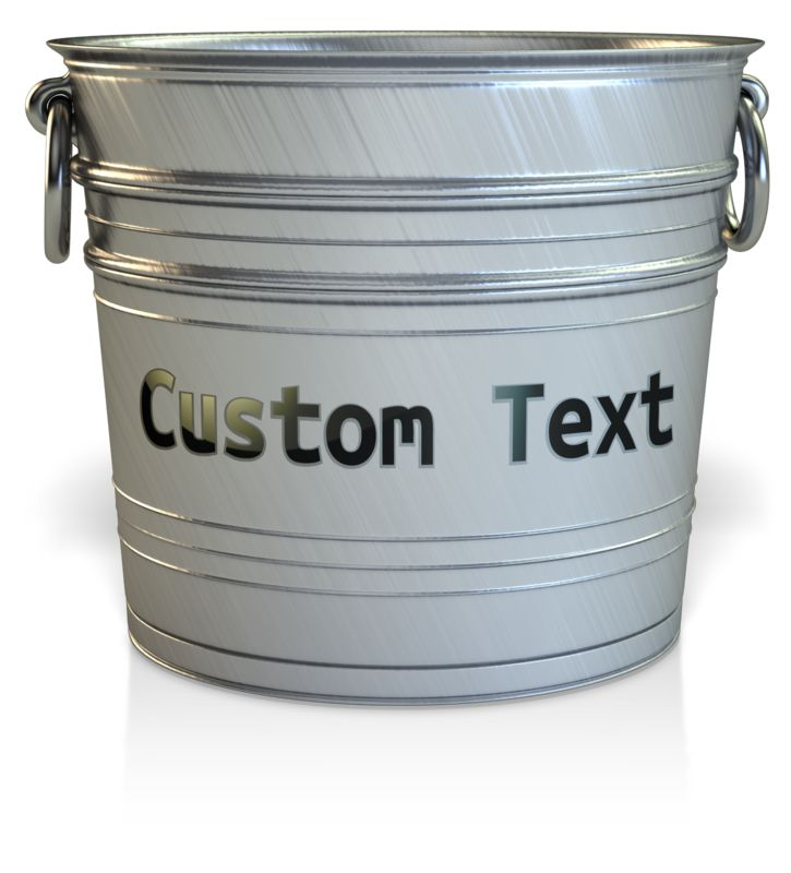 This Presentation Clipart shows a preview of Empty Bucket Custom
