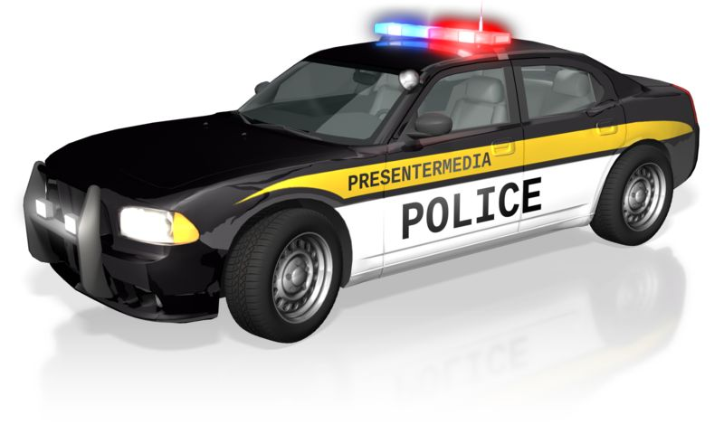 Customize the text on this side of this law enforcement vehicle.