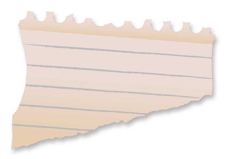 Clipart - Blank Paper Scrap