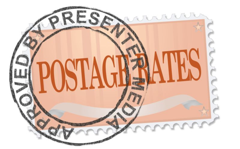 This Presentation Clipart shows a preview of Postage Stamp