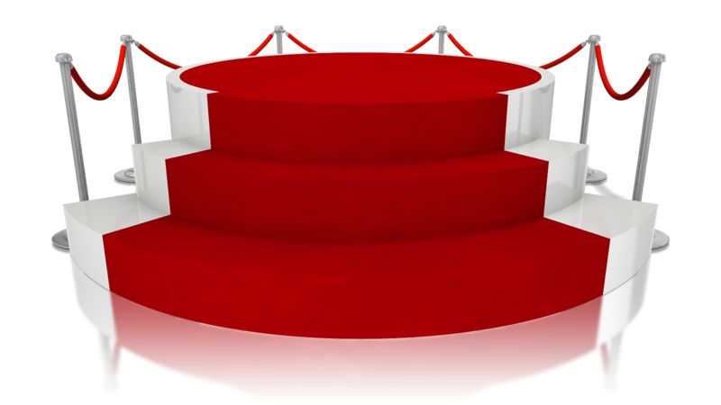 Clipart - Platform Red Carpet