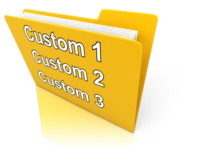 This Presentation Clipart shows a preview of Custom Folder