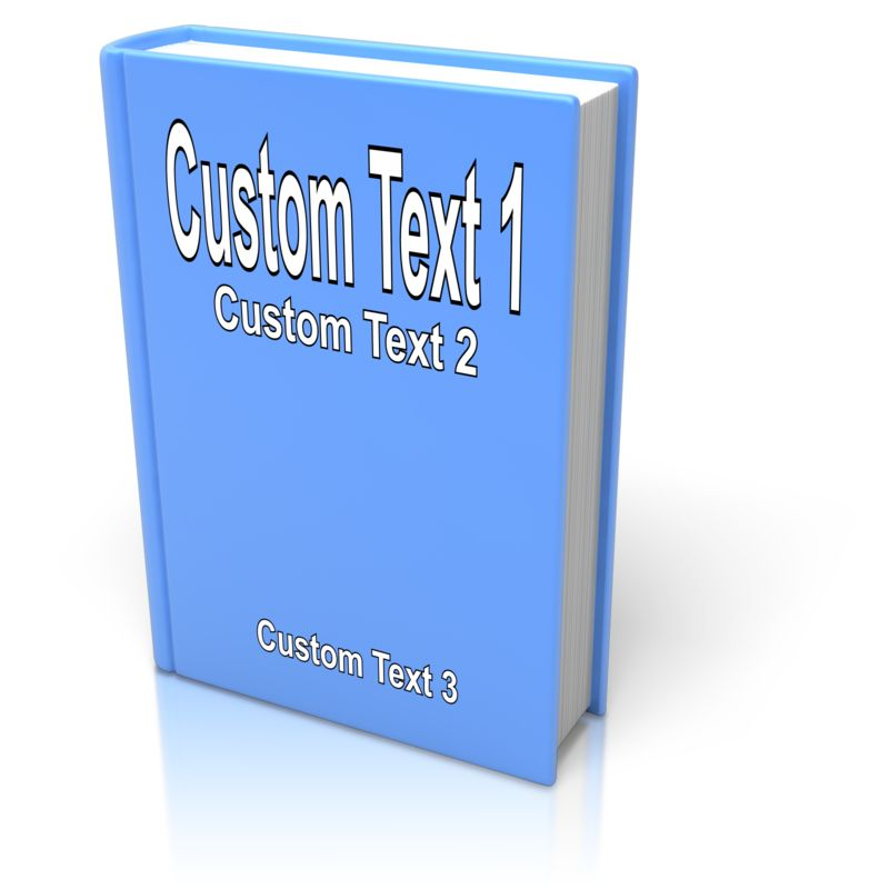 This Presentation Clipart shows a preview of Custom Book Cover