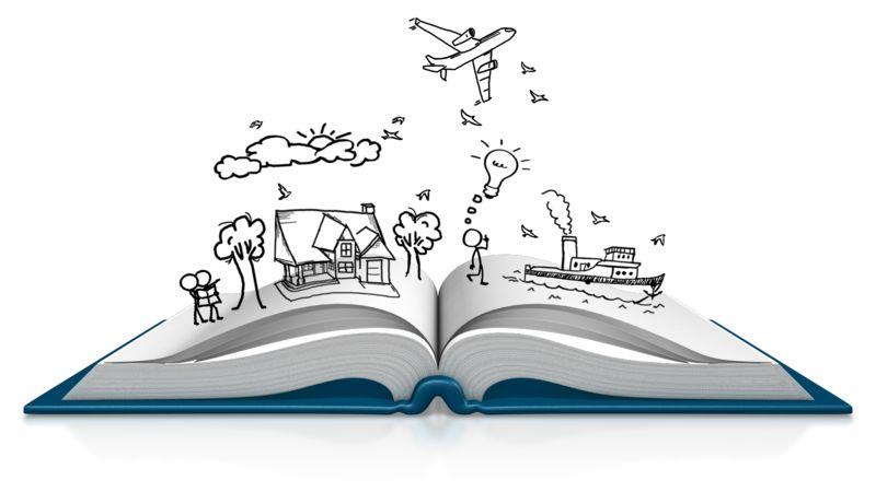 Clipart - Book Dream Sketch
