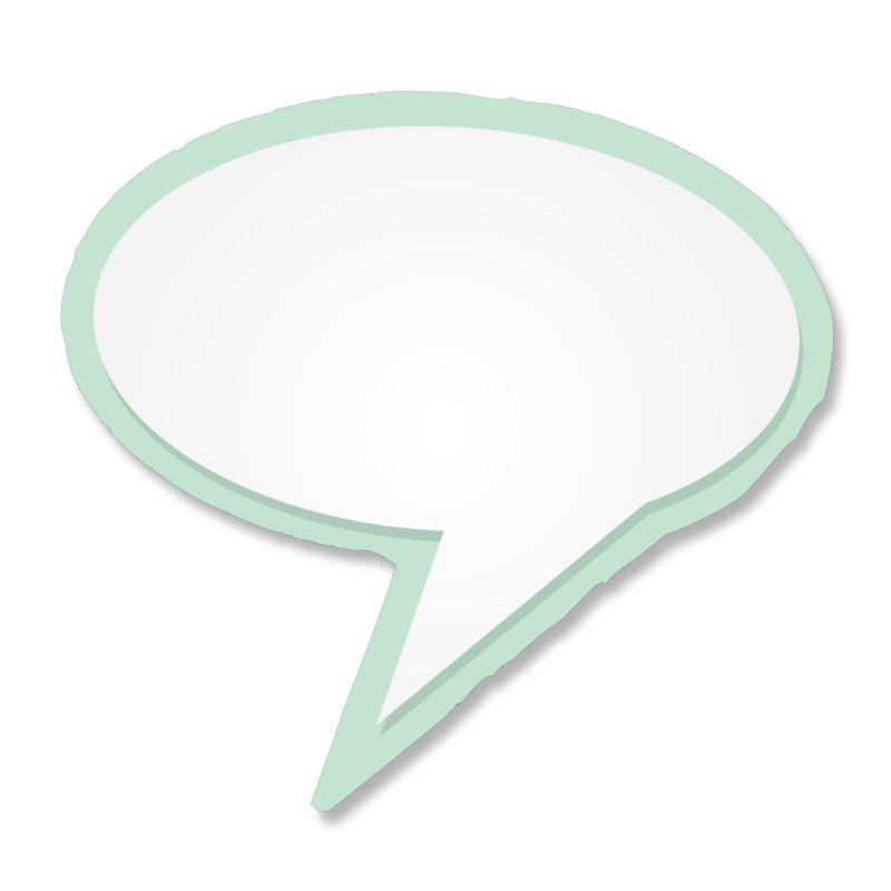 Clipart - Blank Talk Bubble