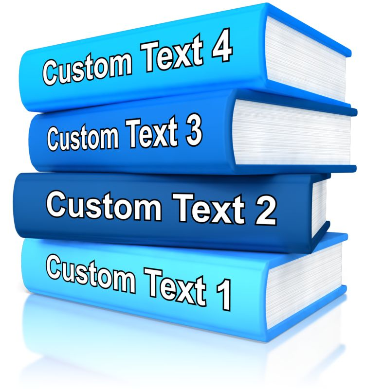 This Presentation Clipart shows a preview of Custom Stack Of Books