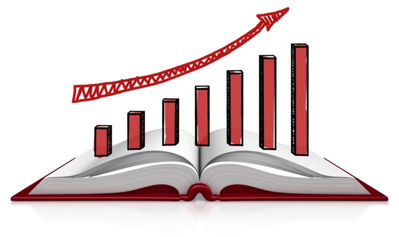 Clipart - Book Graph Sketch