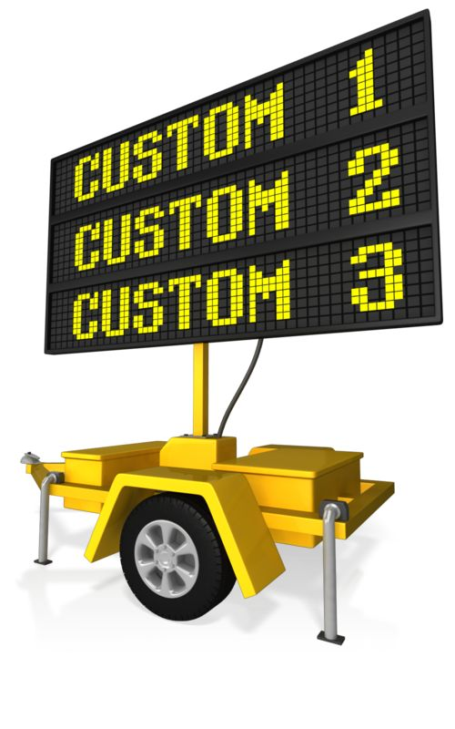 This Presentation Clipart shows a preview of Custom Digital Road Sign