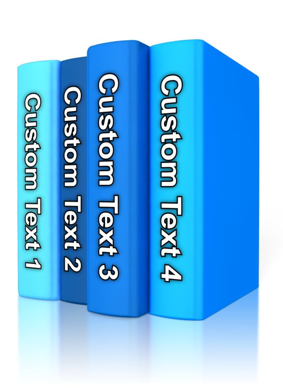 This Presentation Clipart shows a preview of Custom Text Book Standing Up