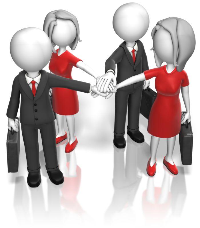 Clipart - Business Team Huddle