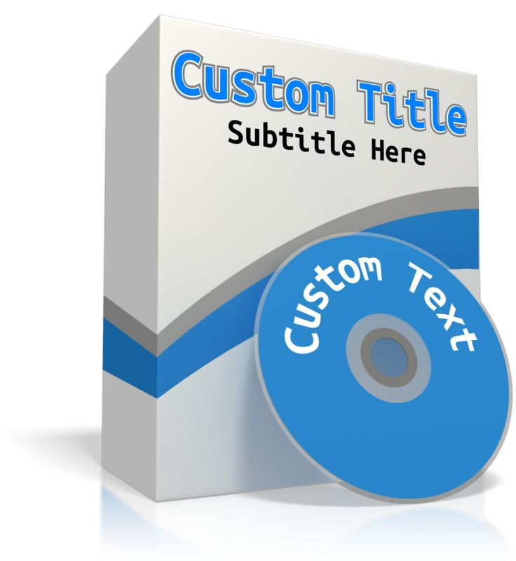 This Presentation Clipart shows a preview of Custom Software Box
