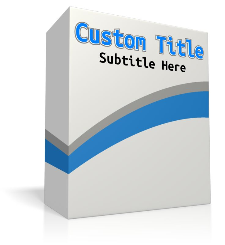 This Presentation Clipart shows a preview of Custom Software Box No Disc