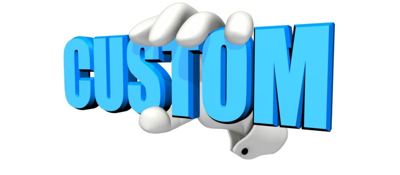 This Presentation Clipart shows a preview of Hand Holding Custom Text