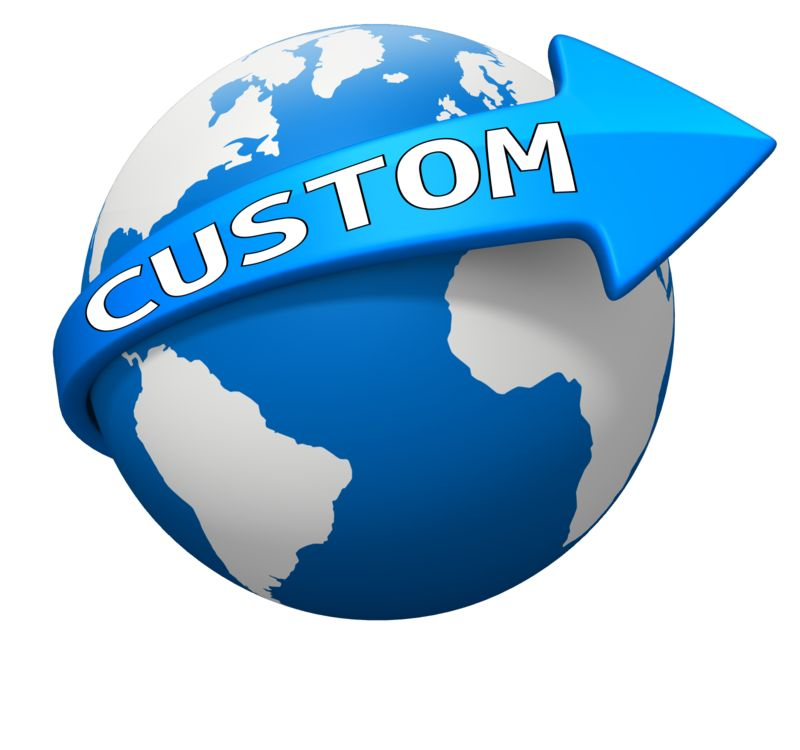 This Presentation Clipart shows a preview of Custom World Arrow Curve