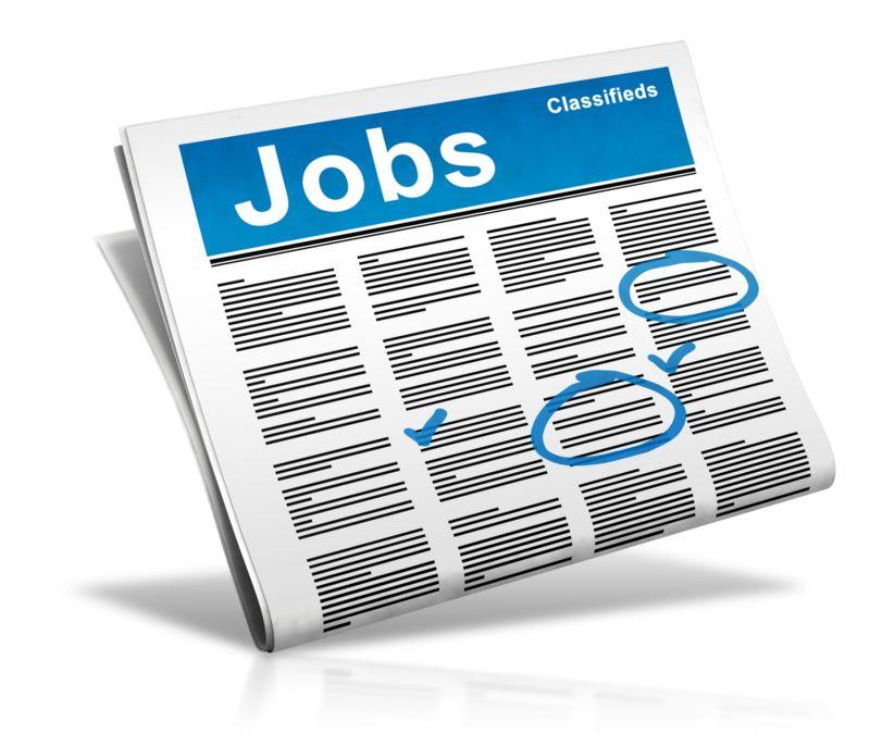 Clipart - Newspaper Check Jobs