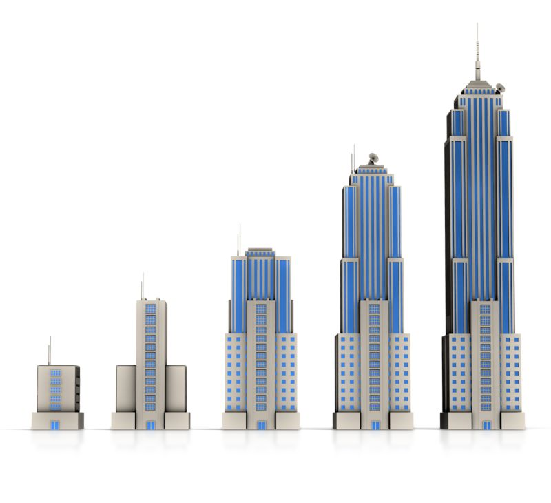 Clipart - Business Building Bar Growth