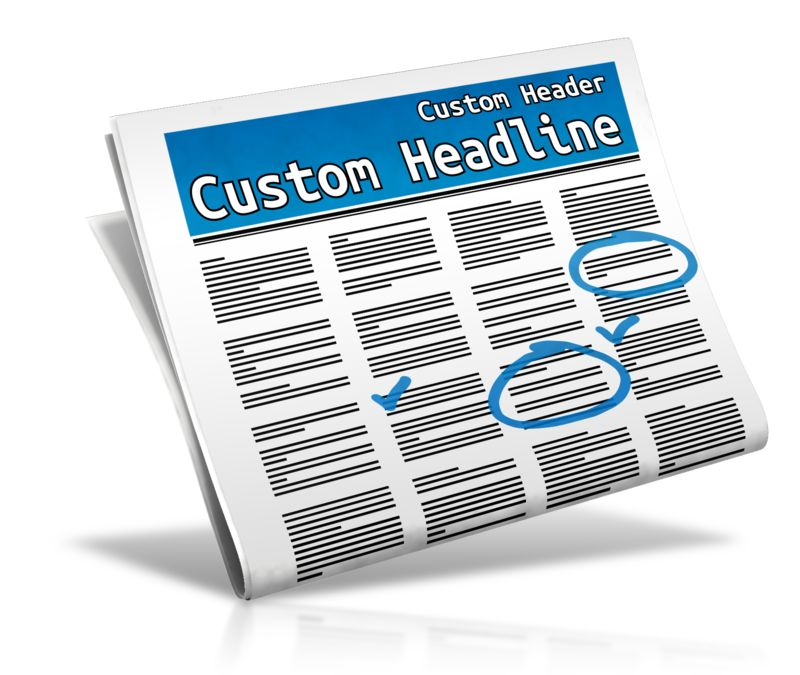This Presentation Clipart shows a preview of Custom Classifieds