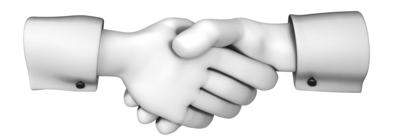 Clipart - Hands Greeting with Handshake