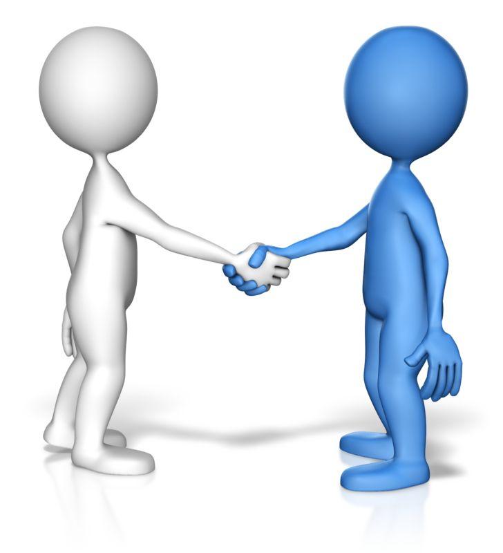 Clipart - Stick Figure Handshake Standout