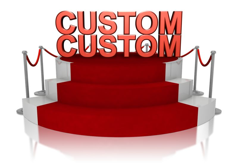 This Presentation Clipart shows a preview of Custom Text On Platform With Red Carpet