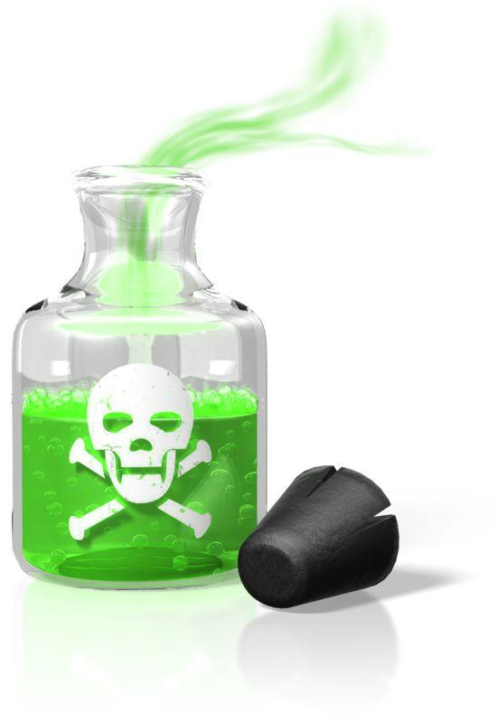 Clipart - Poison Bottle Fumes