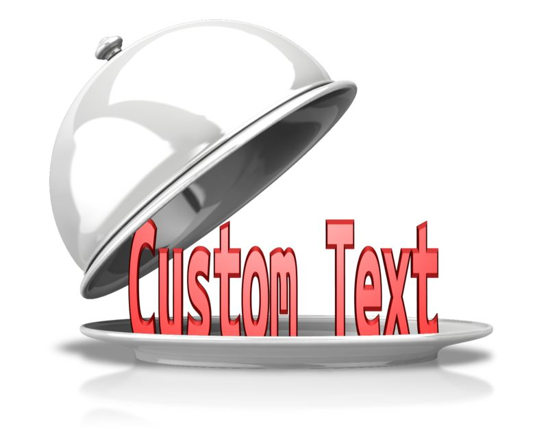 This Presentation Clipart shows a preview of Custom Text Uncovered
