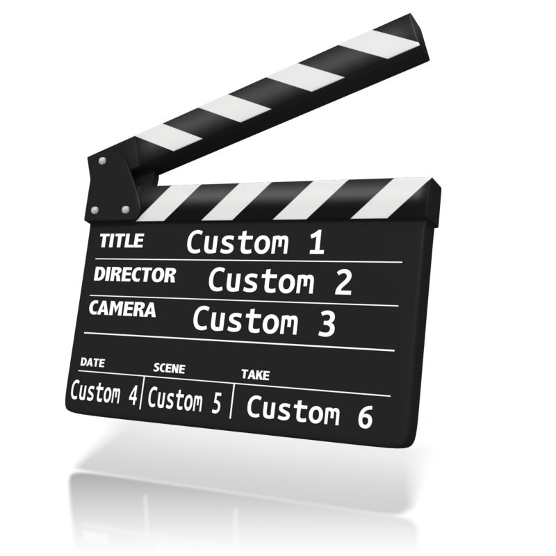 This Presentation Clipart shows a preview of Custom Clap Board Insert