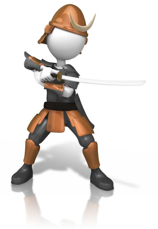 Clipart - Samurai Holding Sword