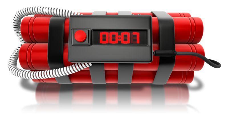 Clipart - Clock Time Bomb
