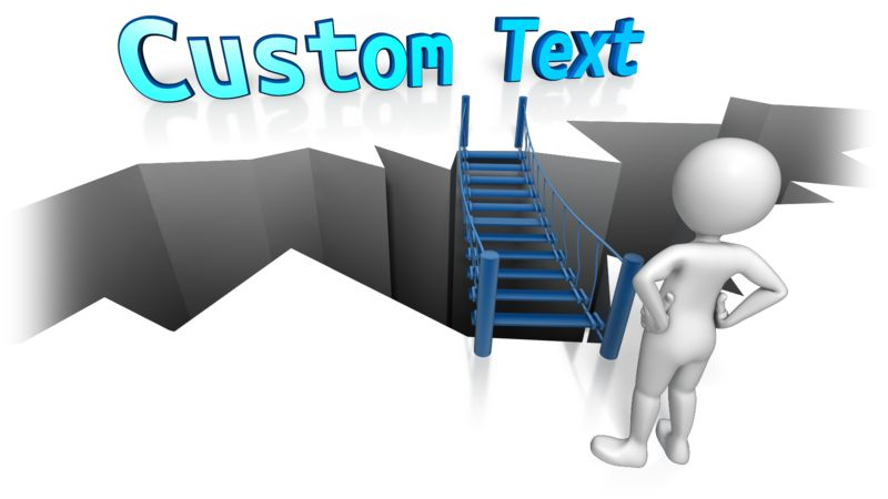 This Presentation Clipart shows a preview of Bridge To Custom Text
