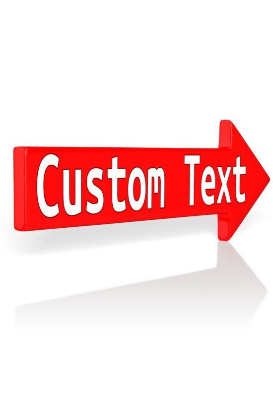 This Presentation Clipart shows a preview of Custom Red Arrow