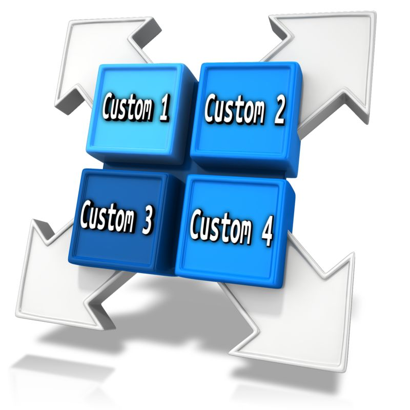 This Presentation Clipart shows a preview of Custom Square Division Element