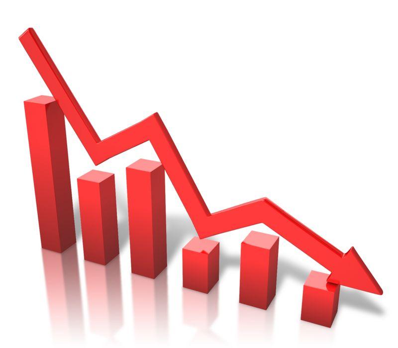 Clipart - Arrow Graph Decline