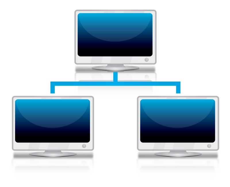 Clipart - Computer Network Reflection