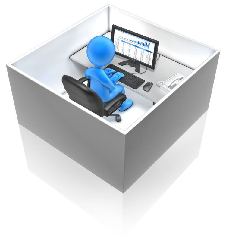 Clipart - Working In A Box