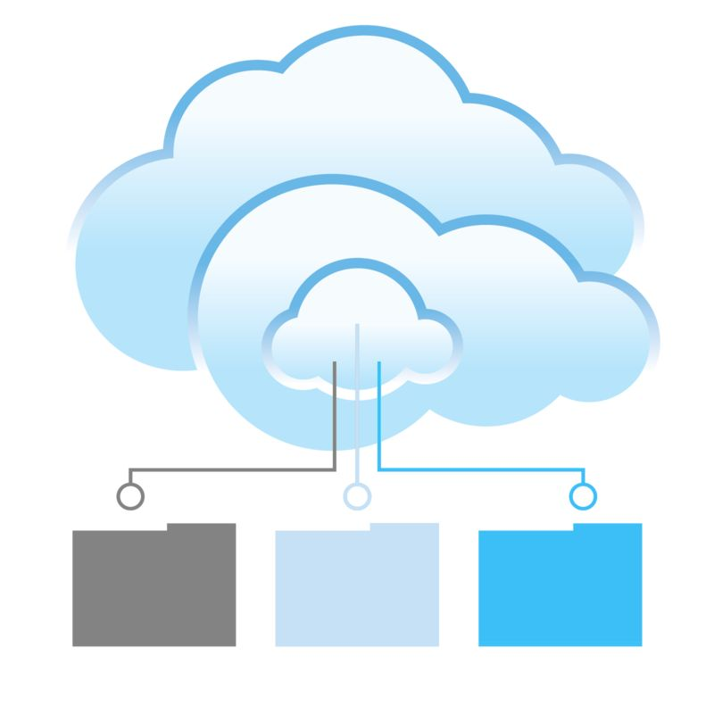Clipart - Cloud Files Transfer
