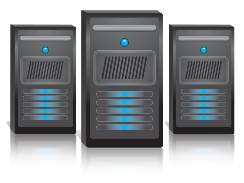 Clipart - Group Of Three Computers