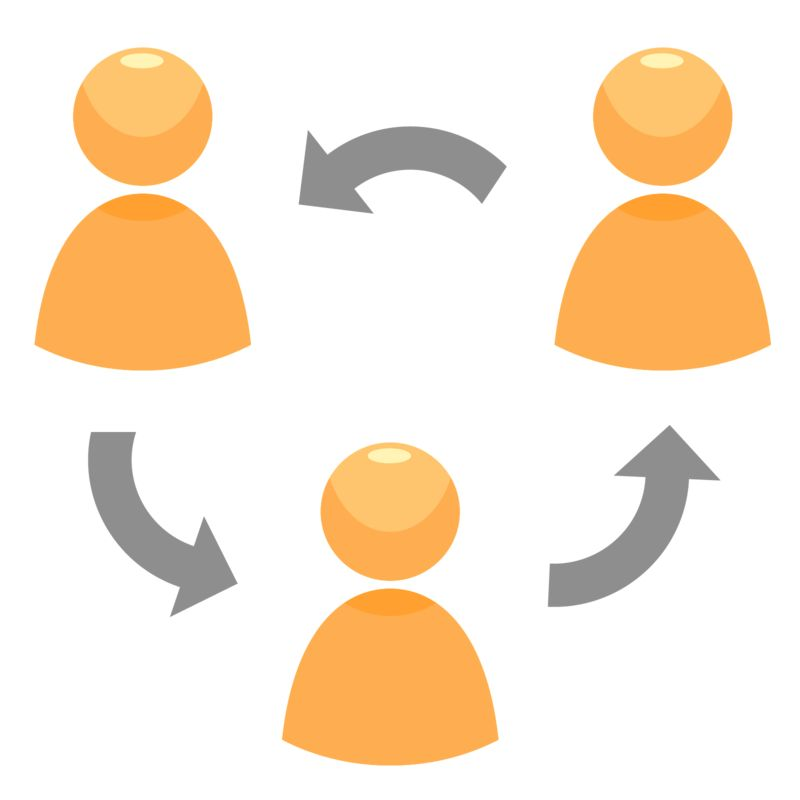 Clipart - Circle Of People