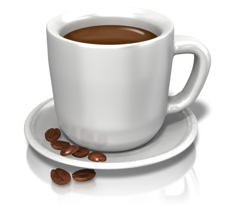 Clipart - Coffee Cup Beans