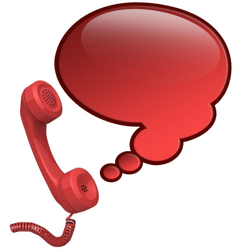 Clipart - Phone Talk Bubble