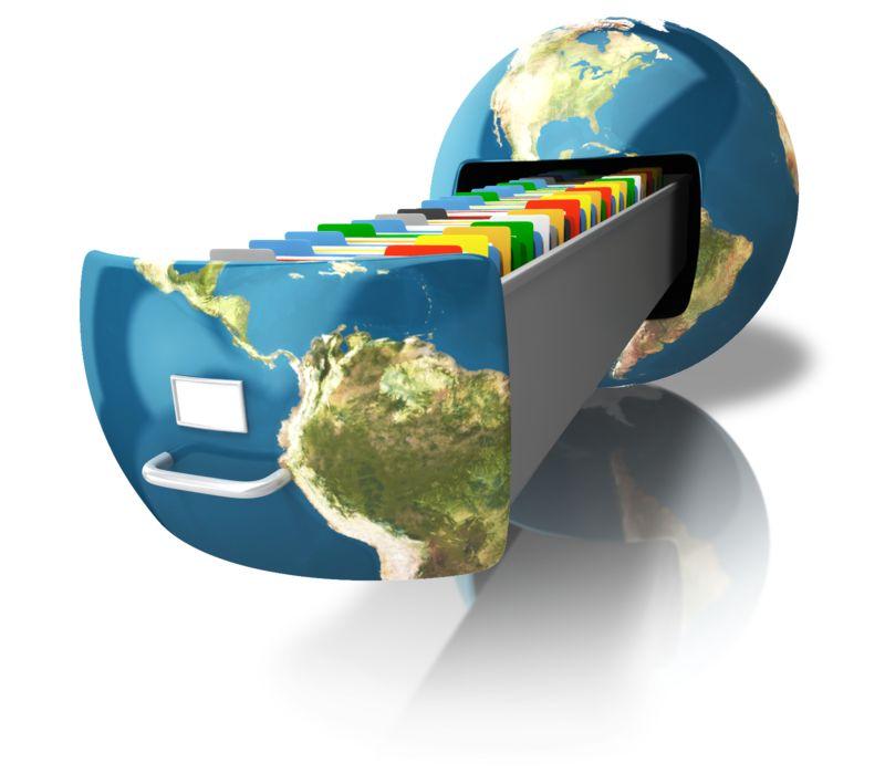 Clipart - File Cabinet Earth